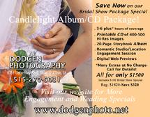 Candlelight Wedding Photography Album/CD Package-Click for E-Coupon